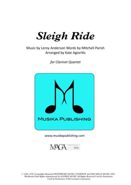 Sleigh Ride - for Clarinet Quartet