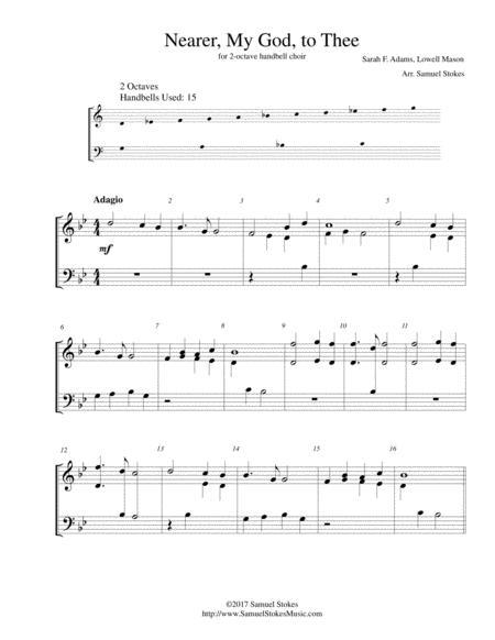 Nearer, My God, to Thee - for 2-octave handbell choir