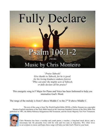 Fully Declare (Psalm 106.1-2 WEB)