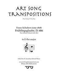 Frühlingsglaube, D. 686 (E-flat major)