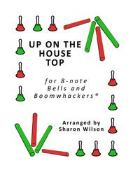 Up on the House Top for 8-note Bells and Boomwhackers® (with Black and White Notes)