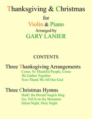 THANKSGIVING & CHRISTMAS (Violin and Piano with Score & Parts)