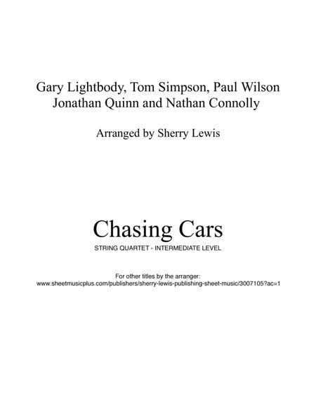 Download Chasing Cars For String Quartet, String Trio, String Duo ...