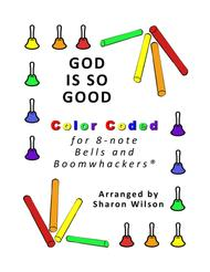 God Is So Good for 8-note Bells and Boomwhackers® (with Color Coded Notes)