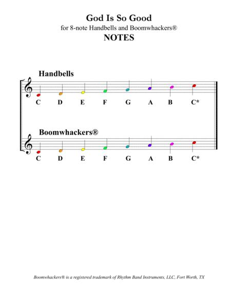 god is so good for 8-note bells and boomwhackers® (with color coded notes)  by traditional - digital sheet music for score,set of parts - download &  print s0.274221   sheet music plus  sheet music plus