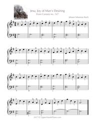 Jesu, Joy of Man's Desiring (EASY PIANO)