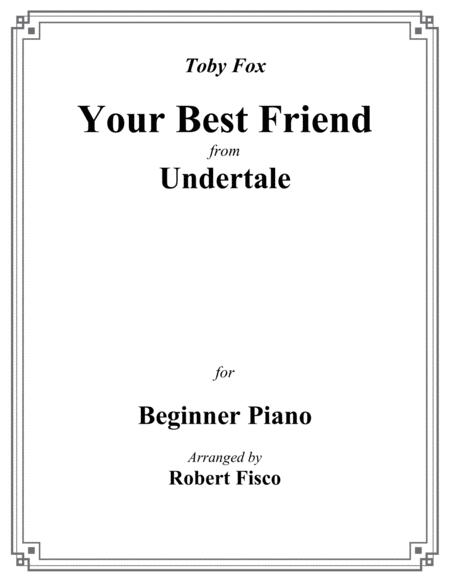 Your Best Friend (from Undertale) for Beginner Piano