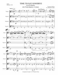 Time To Say Goodbye for Viola Quartet (4 Violas)