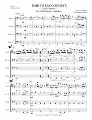 Time To Say Goodbye for Cello Quartet (4 cellos)