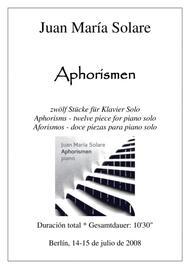Aphorismen [piano]