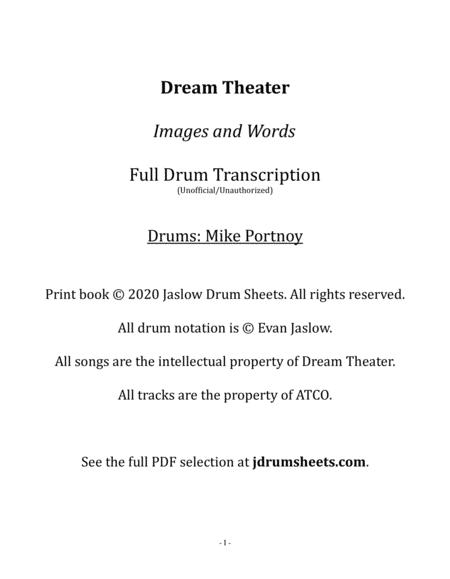 Dream Theater: Images and Words (Full Drum Transcription)