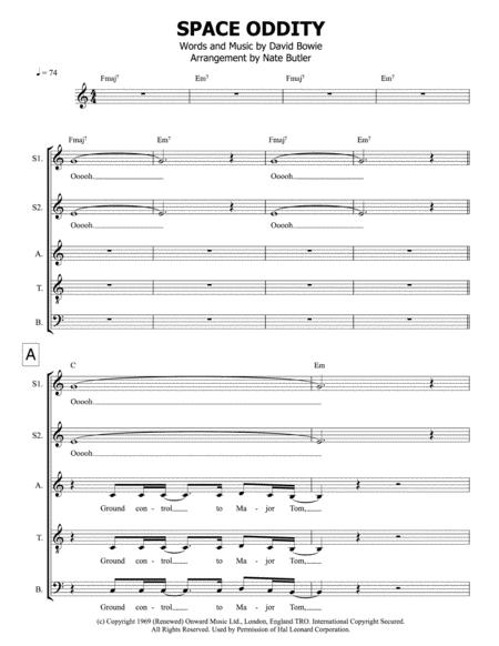 Download Space Oddity - SATB Sheet Music By David Bowie - Sheet ...