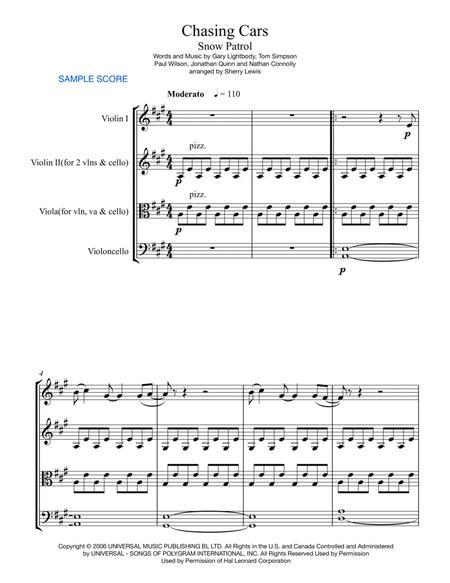 Chasing Cars STRING TRIO (for string trio)