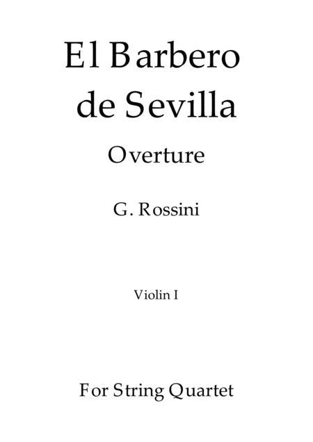 El Barbero de Sevilla - G. Rossini - For String Quartet (Full Parts)