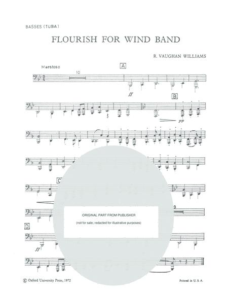FLOURISH FOR WIND BAND - Ralph Vaughan Williams - SPECIAL TUBA PART