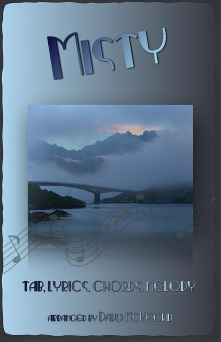 Download Misty. Tab, Notation, Lyrics And Chords For Guitar Sheet ...