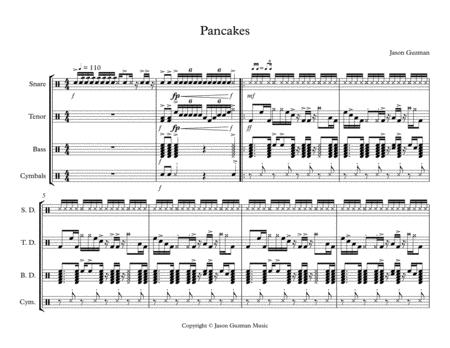 download pancakes drumline cadence sheet music by jason guzman
