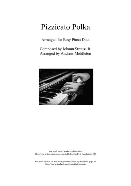 Pizzicato Polka for Easy Piano Duet
