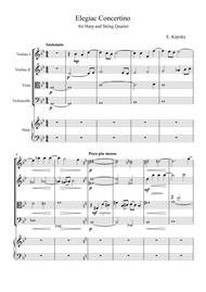 Elegiac Concertino for Harp and String Quartet