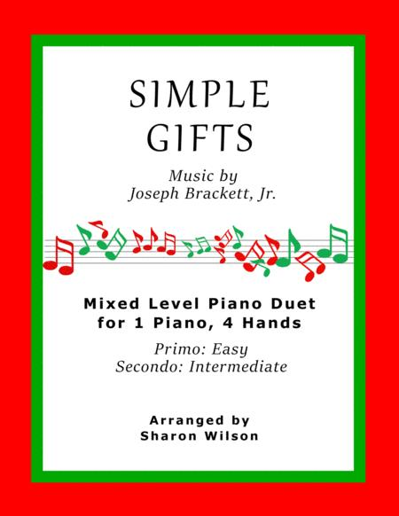 Simple Gifts (Easy Piano Duet; 1 Piano, 4 Hands)