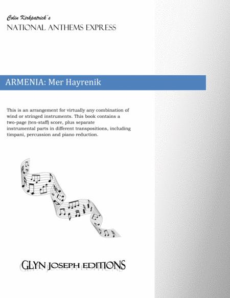 Armenia National Anthem: Mer Hayrenik