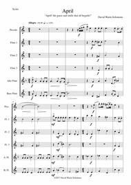 April (April! The grace and smile that all beguile!) for flute sextet (with piccolo)