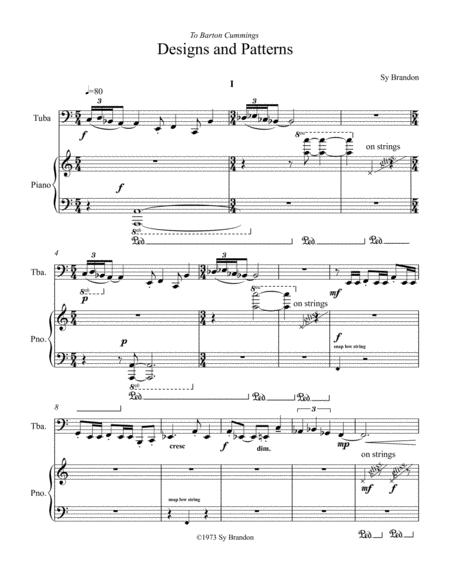 Designs and Patterns for Tuba and Piano