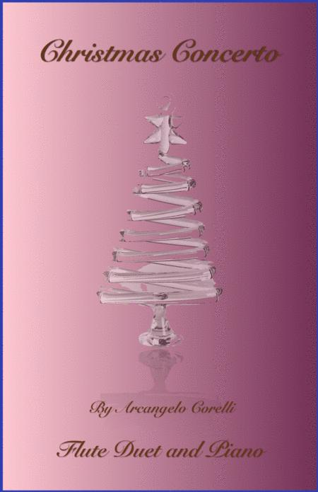 Christmas Concerto, Allegro, by Corelli; for Flute Duet or Solo, with optional Piano