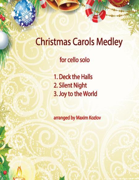 Christmas Carols Medley for cello solo