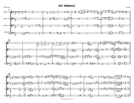 Ain't Misbehavin' - CLARINET QUARTET - 3 Bb + bass clarinet