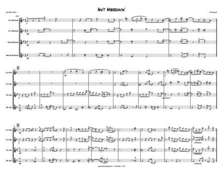 Ain't Misbehavin' - SAX QUARTET - alto, alto, tenor, bari