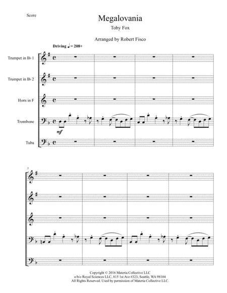 Preview Megalovania From Undertale For Brass Quintet By Toby Fox