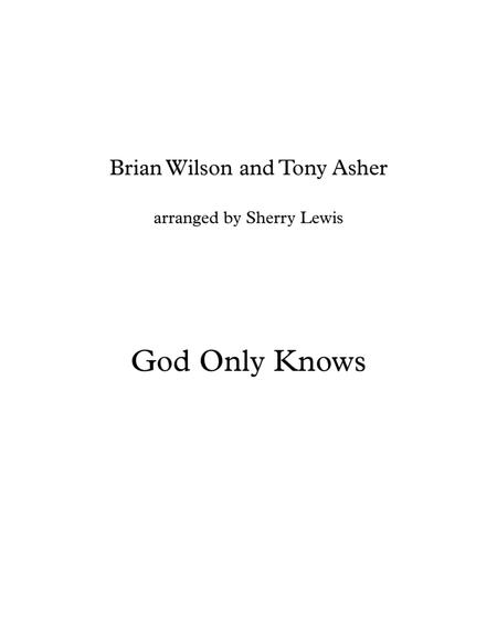 God Only Knows for String Quartet, String Trio, String Duo, Solo Violin, String Quartet + string bass chord chart, arranged by Sherry Lewis