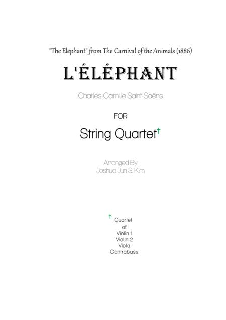 The Elephant for Contrabass and String (from The Carnival of the Animals)
