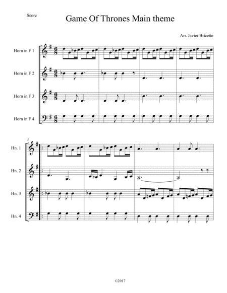 Game Of Thrones Horn Quartet