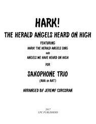 Hark! The Herald Angels Heard on High for Saxophone Trio (AAA or AAT)