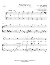 Download Amazing Grace With Optional Bagpipes Sheet Music By