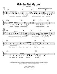 Make You Feel My Love by Bob Dylan, Sung by Adele Lead Sheet