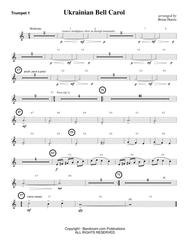 UKRAINIAN BELL CAROL (young concert band - easy - score, parts, & license to photocopy) . . . .