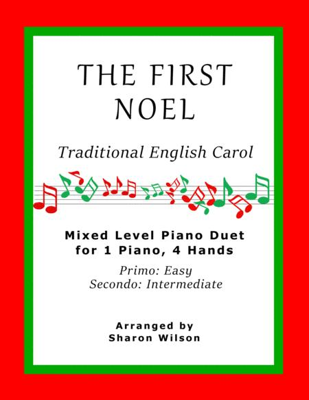 The First Noel (Easy Piano Duet; 1 Piano, 4 Hands)