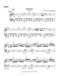 Sonata in C, K. 545 I Allegro with Piano Fingering