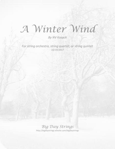 A Winter Wind - for string quartet or quintet