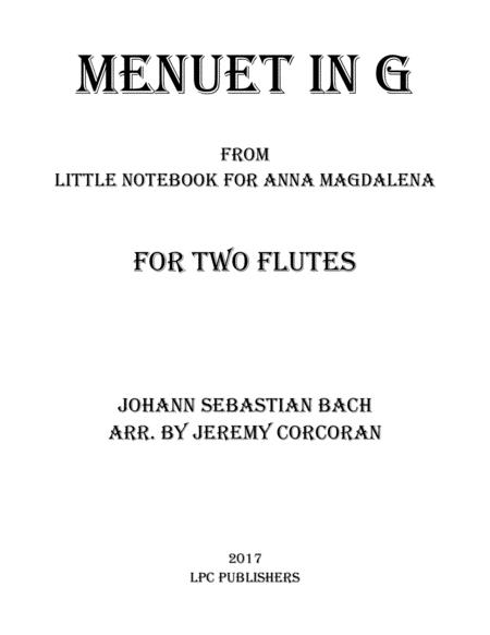 Menuet in G for Two Flutes