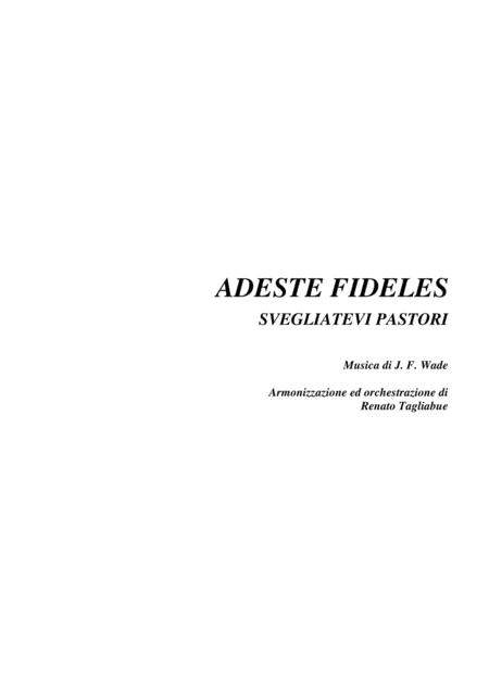 ADESTE FIDELES - O Come All Ye Faithful - Voice and Organ (Pedal)