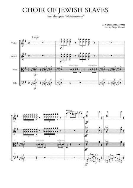 Choir of the Jewish Slaves for String Quartet