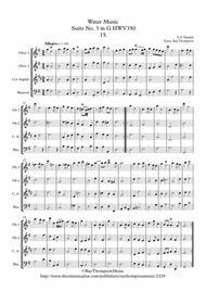 Handel: Suite No.3 in G (HWV350)(Complete)