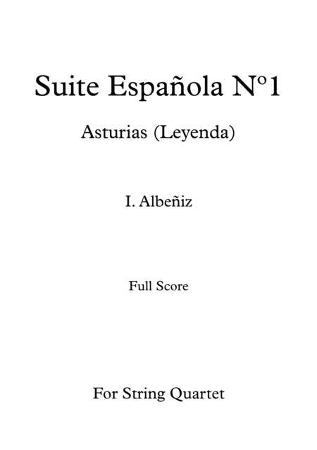 Asturias (Leyenda) - I. Albeñiz - For String Quartet (Score)