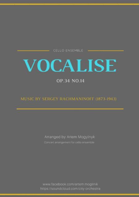 Vocalise - Rachmaninoff Op.34 No.14