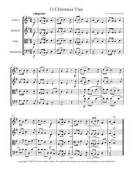 O Christmas Tree (O Tannenbaum) - easy string quartet