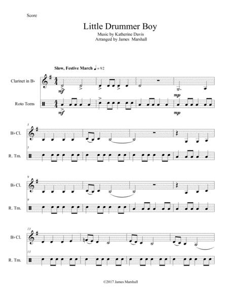 Little Drummer Boy for Clarinet and Toms